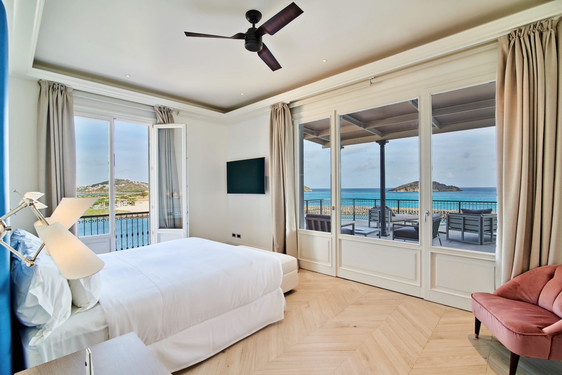 sandy lane yacht club bedroom with sea view